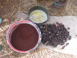 three stages of shea nut production