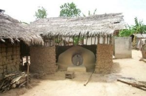 earth oven used for shea butter