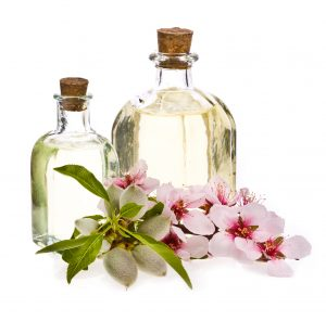 Almond Oil and flowers
